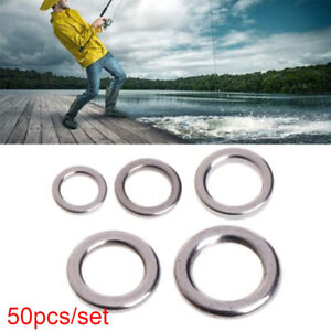Tackle-Solid-Stainless-Steel-Swivel-Snap-Fish-Connector-Fishing-Split-Rings