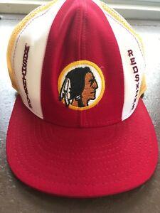 3e76cb5713bfa3 Vintage 80's Washington Redskins Snapback Mesh Trucker Hat Cap Lucky ...
