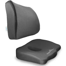 Orthopedic Seat Cushion BUNDLE – Tailbone & Lumbar Support for Office Chair