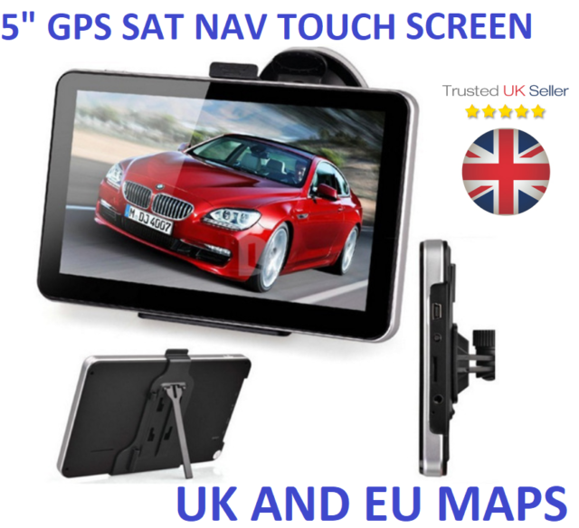 5 Inch GPS Navigation Car Truck HGV Navigator SAT NAV 8GB ROM Speed Limit