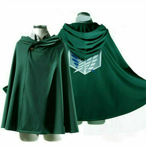 Attack On Titan Robe Cloak Survey Corps Eren Cosplay Uniform Cloaks Clothing UK