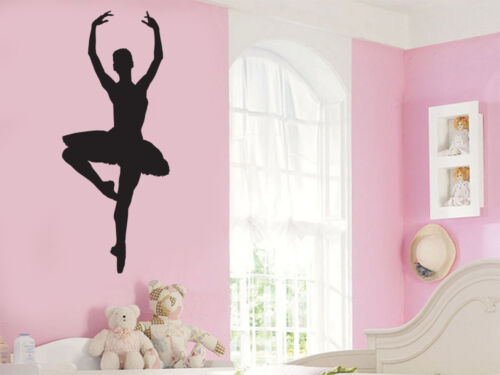 Ballerina Pirouette Wall Art Vinyl Stickers Dance Ballet Dancer Murals Decals