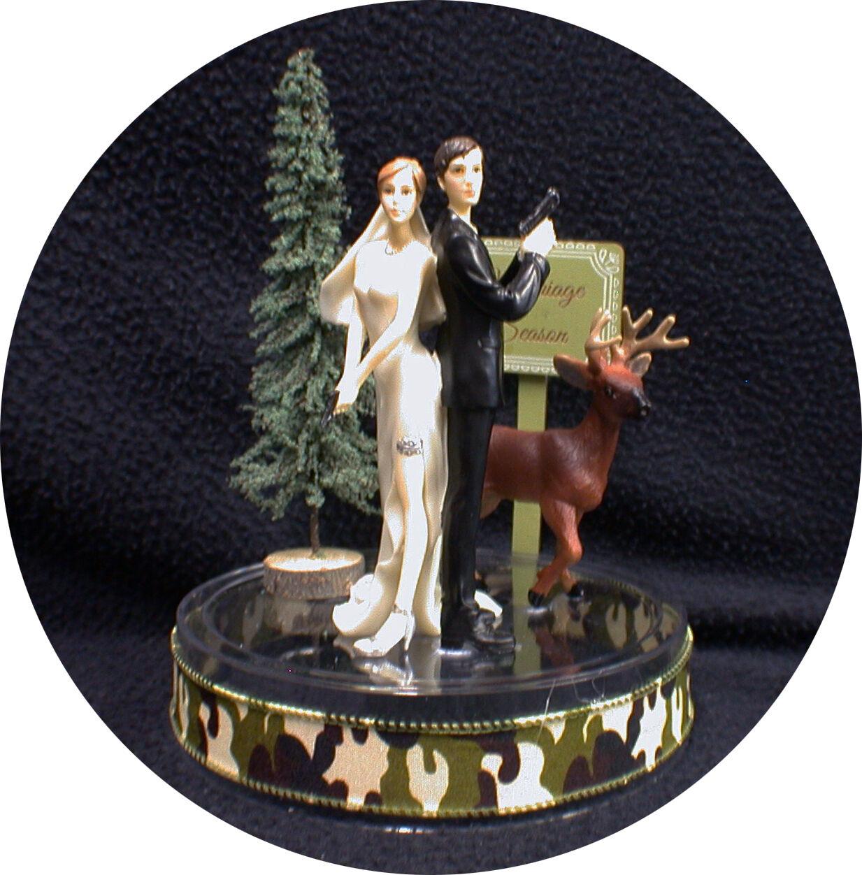 Hunters   Marriage Season  Deer hunting Wedding Cake topper Bride Groom Top