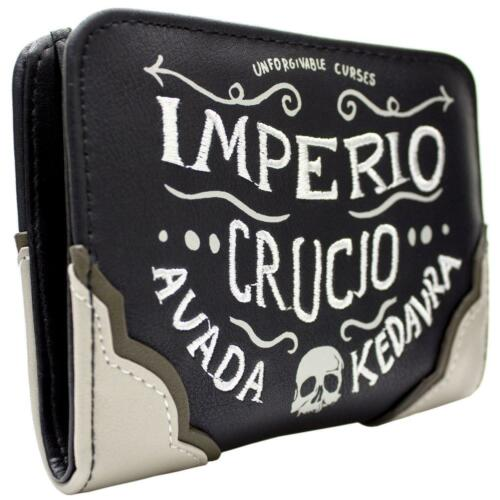 NEW OFFICIAL HARRY POTTER IMPERIO CRUCIO BLACK COIN AND CARD CLUTCH PURSE