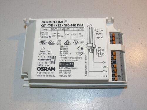 OSRAM Quicktronic QT-T//E 1x32//230-240DIM Vorschaltgerät Sparlampen Drossel