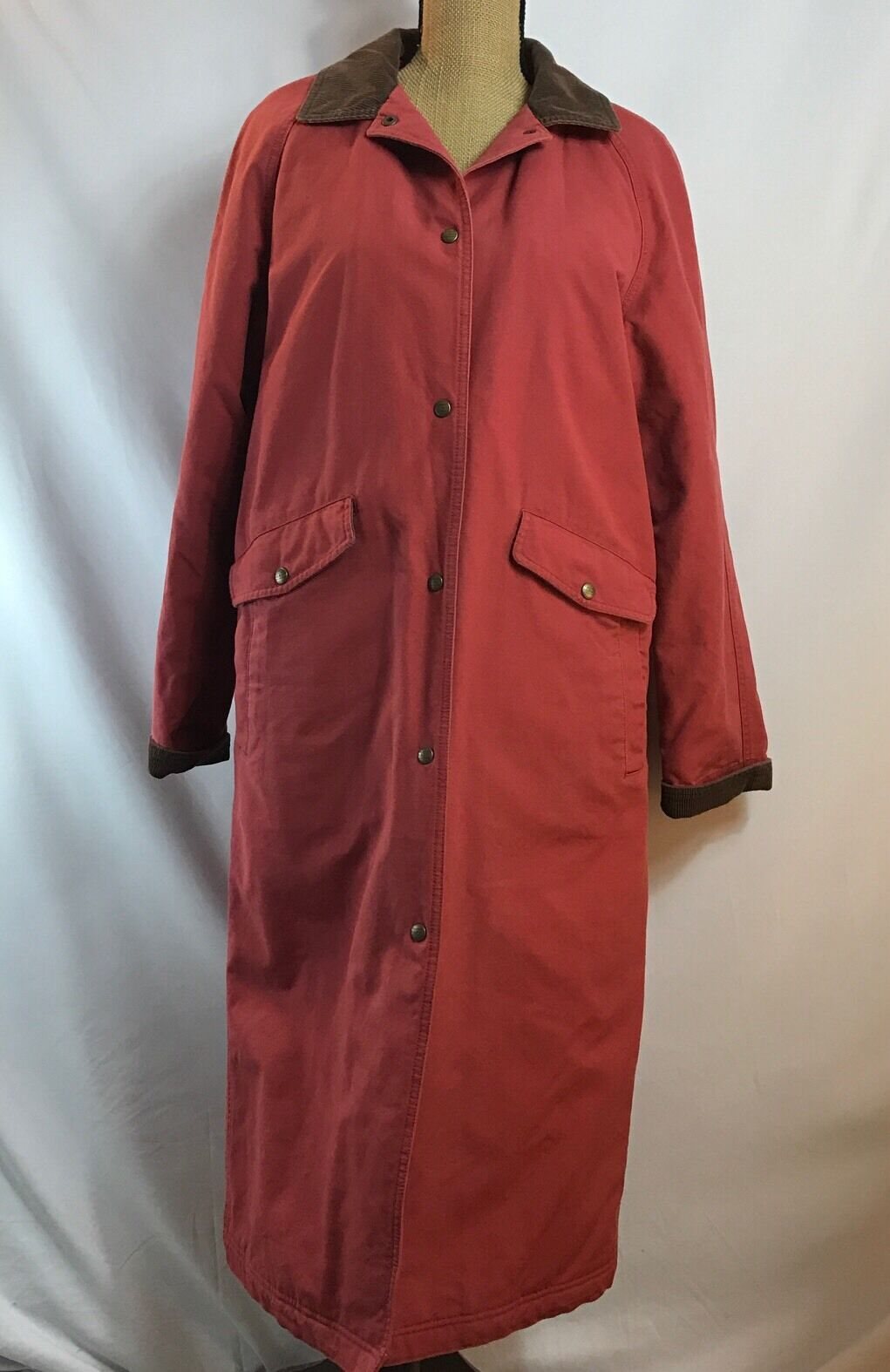 LL Bean Women's Small Reg 100% Cotton Quilted Indian Blanket Dusty pink Duster