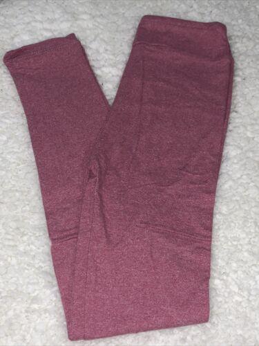 LuLaRoe kids L//XL Solid Heathered Pink New leggings 8-12 NWT Large XLarge