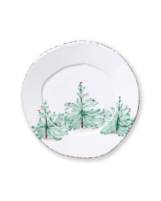 Vietri Lastra Holiday Salad Plate - Set of 4