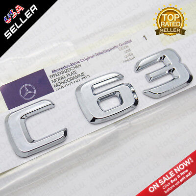 ABS CLS 63 Emblem 3D Trunk Logo Nameplate Badge Decoration AMG Modified Chrome