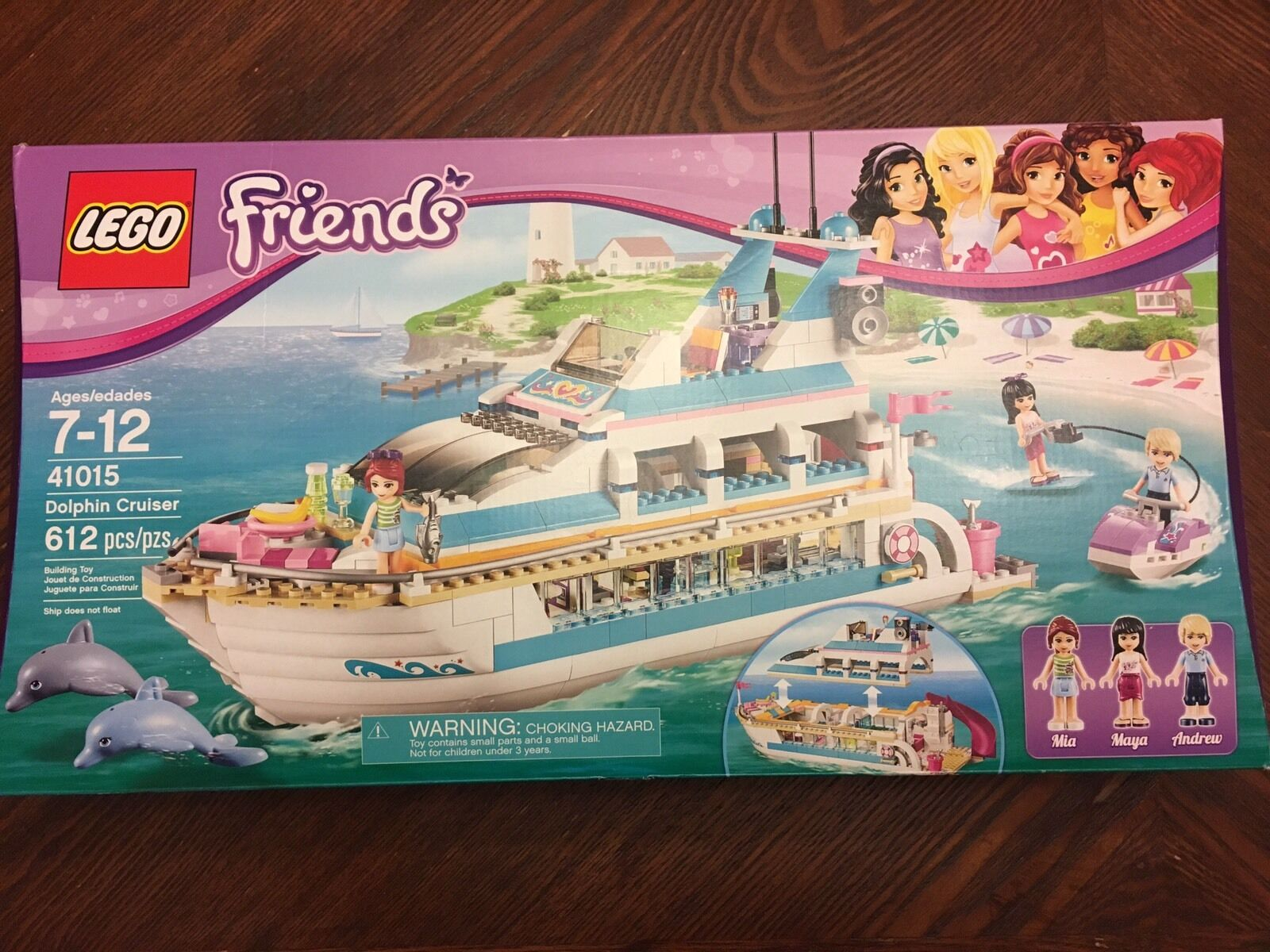 LEGO 41015 Friends Dolphin Cruiser 100% Complete