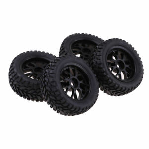 4 Pcs RC Car Tires Tyres /&Wheel Rim for 1//10 Hsp Redcat Traxxas Hpi Parts
