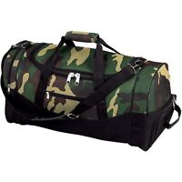 Army Camo 23 Outdoor Duffle Bag, Mens Carry-on Travel Overnight Luggage Tote