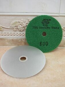 100mm-4-034-Grit-800-THK-Diamond-FLAT-LAP-lapping-hook-loop-backed-grinding-wheel