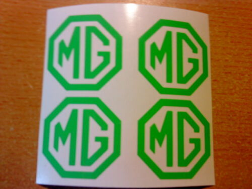 mg centre cap x4 brightgreen  vinyl car sticker decals wing mirror graphics fun