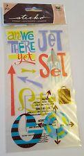 NUOVO con confezione Sticko Stickers viaggio Frecce Jet Set Vacanze BUSSOLA