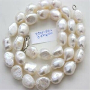 8-10mm-natural-white-baroque-pearl-necklace-18-inches-Cultured-Chic-Classic