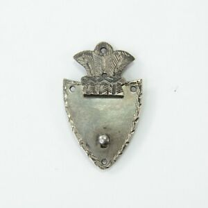 Lock-plate-clasp-antique-Georgian-white-metal-miniature-early-19th-century-5