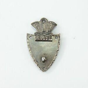 Lock plate clasp antique Georgian white metal miniature early 19th century #5