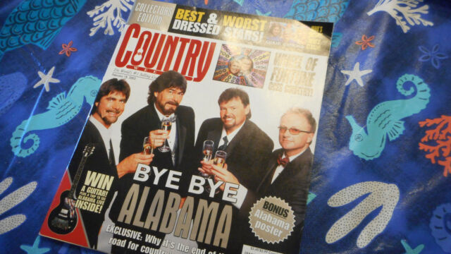 Alabama Covers Country Weekly Magazine February 2003 W/Poster