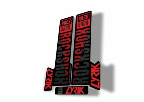 Rock Shox LYRIK 2018 Mountain Bike Cycling Decal Sticker Adhesive Red Gray