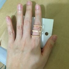 H&M Rectangle Rose Gold Plated Power Ring size XS/S