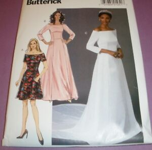 Butterick 6639 Wedding Dress Pattern Meghan Markle Gown Size 14 22