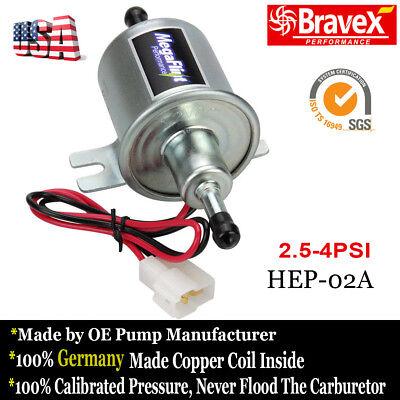 2.5 PSI Gas/& Diesel Electric Fuel Pump Inline Low Pressure12V Carburetor E8012S