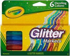 Crayola Glitter Markers 6//Pkg 58-8629 2-Pack Bulk Buy