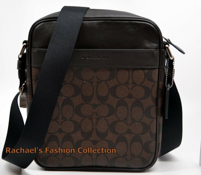 Coach 71764 Mens Signature PVC Leather Flight Messenger Bag ... be6163434055b