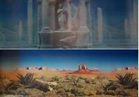 Underwater Ruins Desert Reptile Double Sided Aquarium Background 18 H X 36