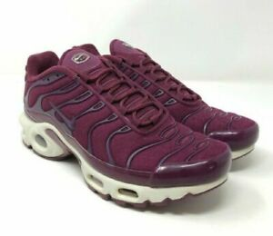 Details about Nike Air Max Plus Tuned TN Womens Running BordeauxWhite AV7912 600 Size 7 New