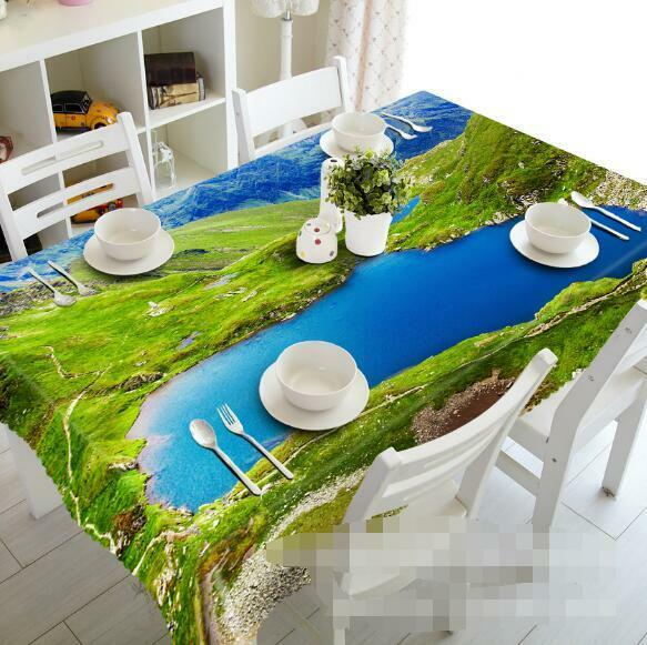 3D Mountain 67 Tablecloth Table Cover Cloth Birthday Party Event AJ WALLPAPER AU