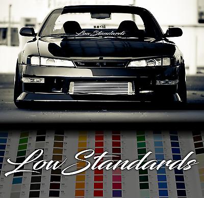 "Royal Stance windshield sticker 35/"" 90cm windscreen classic car JDM Mugen decal"