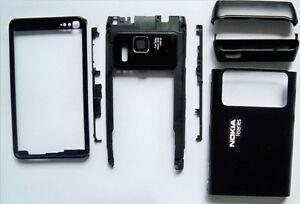 Black-fascia-housing-faceplate-cover-facia-case-for-Nokia-N8