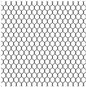 CC155 Chicken Wire Cover-a-Card Unmounted Cling Rubber Stamp