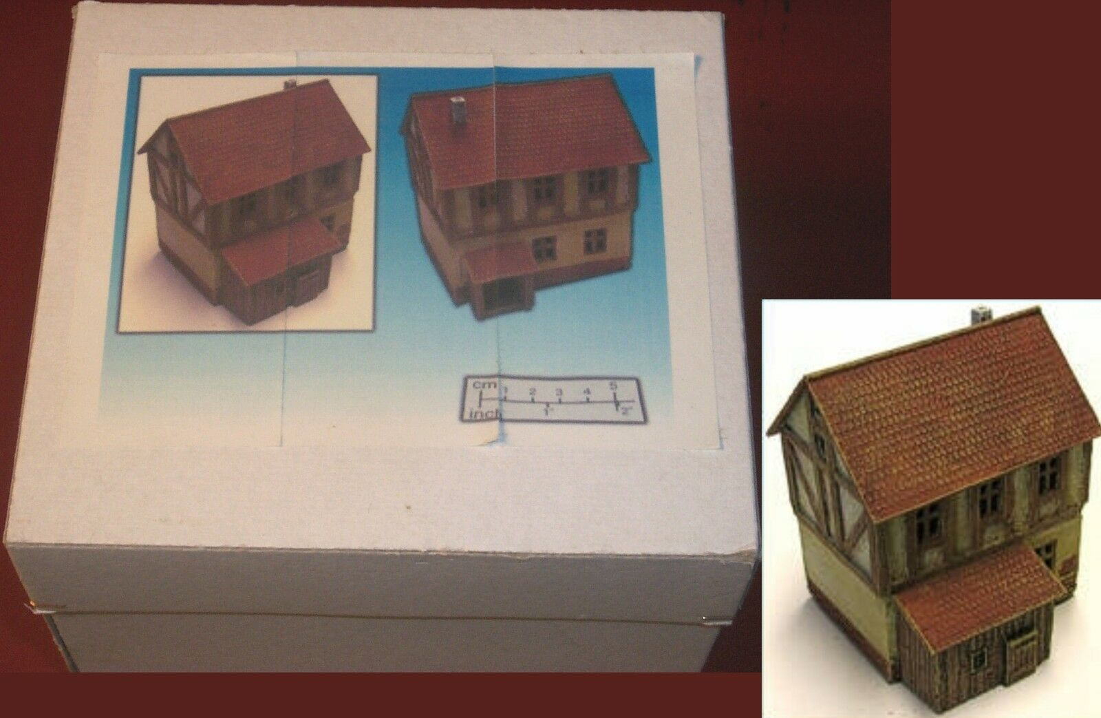 ESLO mm Half Timbered House (1) Miniature Finished Terrain Building