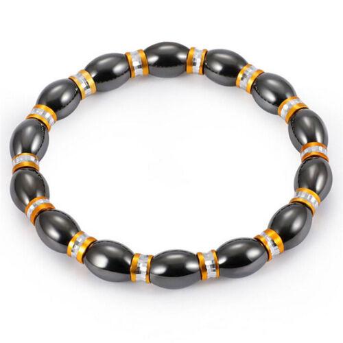 Magnetic Bracelet Bangle Bead Hematite Stone Health Care WomenJewelry lq