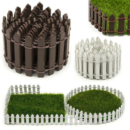 Simple Miniature Fairy Garden Kit Wood Fence Terrarium Doll House DIY Decor One