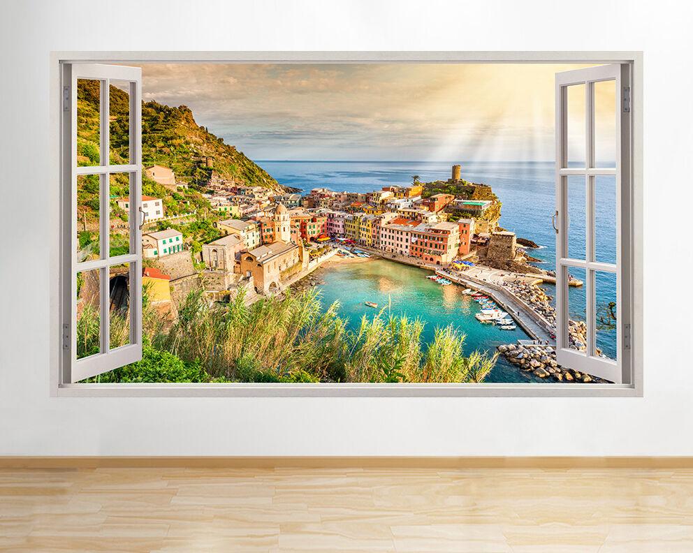 A162 Italie Sun Sea Montagnes Ocean Lac Wa Autocollant Chambre 3D Vinyle enfants