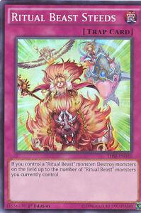 3-x-Yu-Gi-Oh-Card-THSF-EN032-RITUAL-BEAST-STEEDS-super-rare-holo-NM-Mint