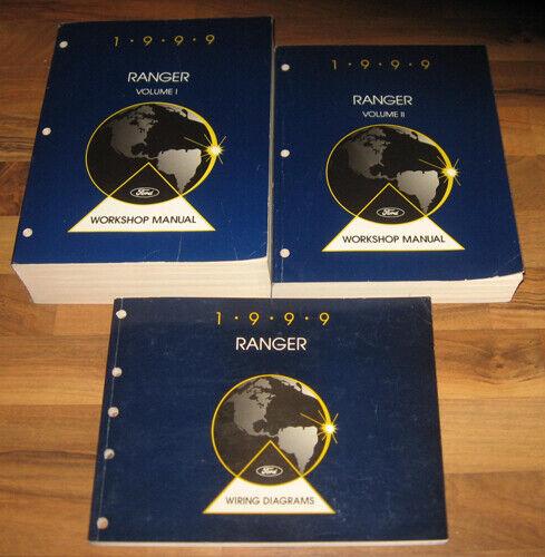 1999 Ford Ranger Truck Shop Service Manual Set  3  Xl Xlt