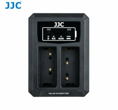 JJC DCH-NPW126 USB Dual Battery Charger for Fujifilm NP-W126//NP-W126S  B-NPW126