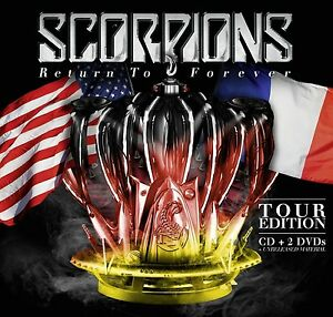 SCORPIONS-RETURN-TO-FOREVER-TOUR-EDITION-inkl-7-Bonus-Tracks-CD-2-DVD-NEUF