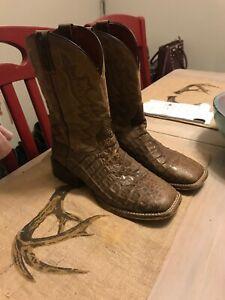 eff8af55aa3 Details about Dan Post Denver Caiman Cowboy Boots, Men's Size:9 Medium