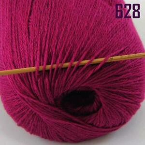 Sale-New-1-Skein-x50gr-Soft-Pure-Cashmere-Hand-Wool-Shawl-Scarf-Knitting-Yarn-28