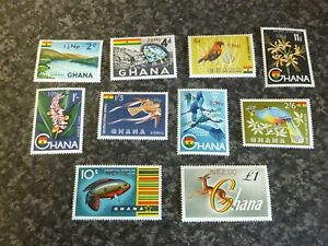 GHANA-POSTAGE-amp-AIRMAIL-STAMPS-SG445-54-1967-UN-MOUNTED-MINT