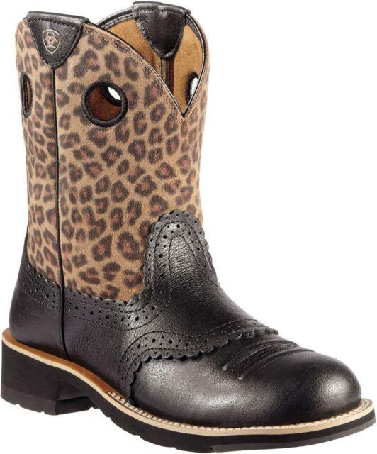 womens leopard print cowboy boots
