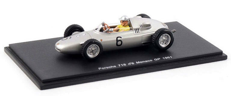 Spark s1867 PORSCHE 718   6 Monaco GP GP GP 1961-Hans Herrmann, échelle 1 43, 788c73
