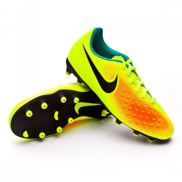 d4882d0d30a Nike Kids Jr Magista Ola II FG Soccer Cleat Volt Black Orange Youth C51 Size  1