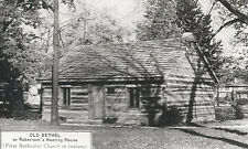 Old Bethel First Methodist Church In Indiana  Roberts Meeting Postcard 5083